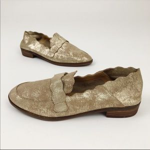 Lucky Brand Callister ankle gold mules loafers